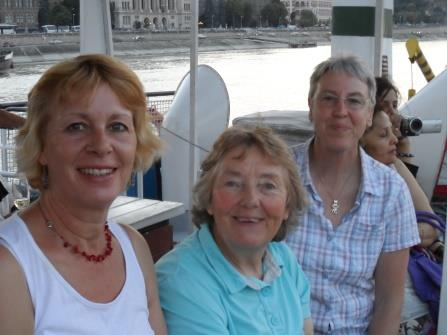 An evening cruise on the Danube with Ann, Liz and Sue.